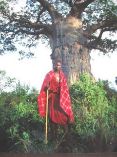 My Maasai friend Sawe in traditional dress
